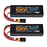 PowerHobby 2S 7.4V 5200mAh 50C Lipo Battery W XT60 Plug + Adapter 2-Cell (2) Compatible with: Slash 4x4 4WD 2WD Stampede Rustler E-Revo E-Maxx Spartan M41 X-Maxx Brushless VXL