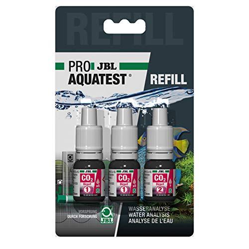 JBL Wassertest-Nachfüller, Für Süßwasser-Aquarien, ProAquaTest CO2 Direct Refill, 3 Stück