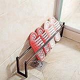 LIZANAN Organizador Bastidores de zapatos Titular de la zapata for el baño de los deslizadores soporte de la zapata Estantes Inicio calzado Estanterías con patas (Color: Negro, tamaño: Tamaño libre) Z