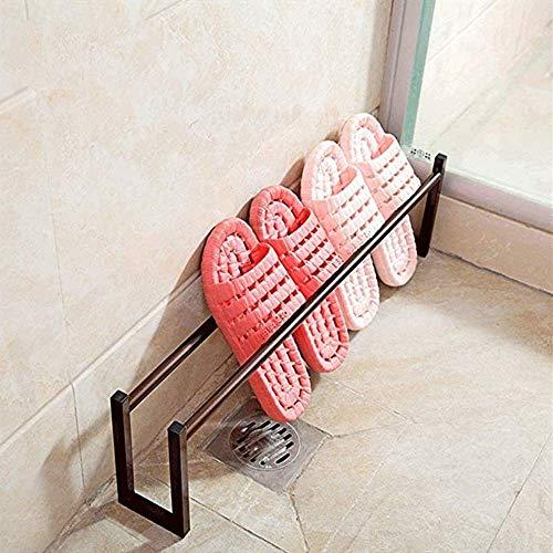 PYROJEWEL Bastidores de Zapatos Titular de la Zapata for el baño de los Deslizadores Soporte de la Zapata Estantes Inicio Calzado Estanterías con Patas (Color: Negro, tamaño: Tamaño Libre) Zapatero