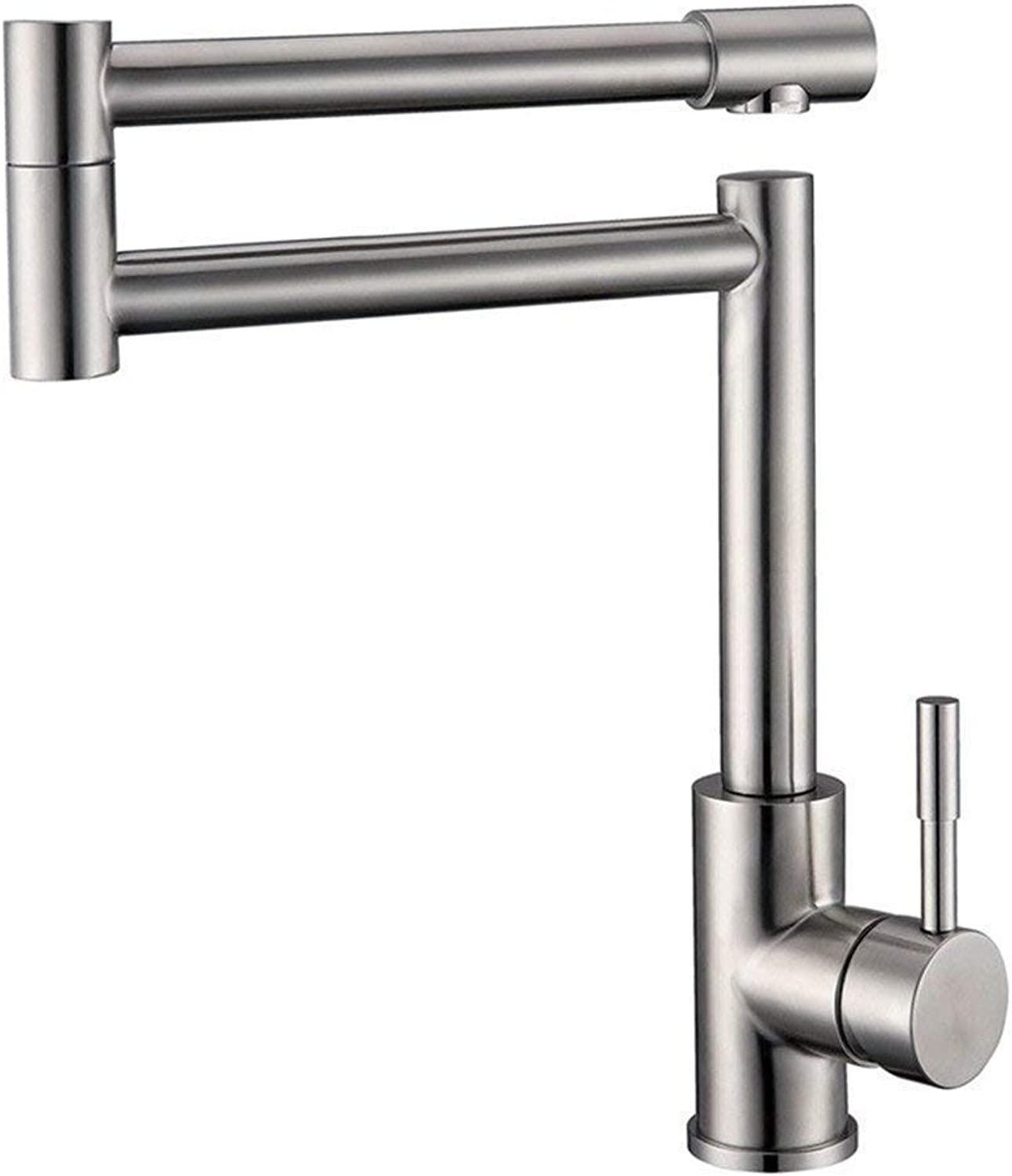 304 Stainless Steel Sink Faucet Folding Kitchen Lead-free Tap 360 ° redatable Sink Tap Single Lever Mixer High Swivel Spout