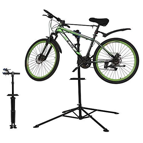 Melko Montage Fahrradständer – Montageständer fürs Fahrrad, höhenverstellbar, 360° schwenkbar, 30kg Belastbarkeit, zum Ausklappen, ideal für Reparaturen
