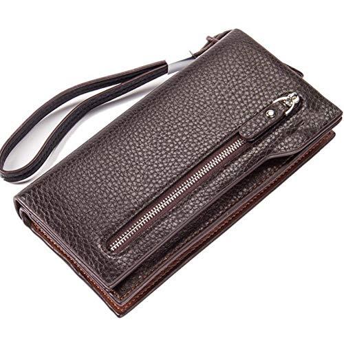NSQBTM Brieftasche Baellerry Männer Geldbörsen Lange Business Style Pu-Leder Männer Geldbörse Reißverschluss Viele Kartenhalter Handy Tasche Qualität Geld Tasche