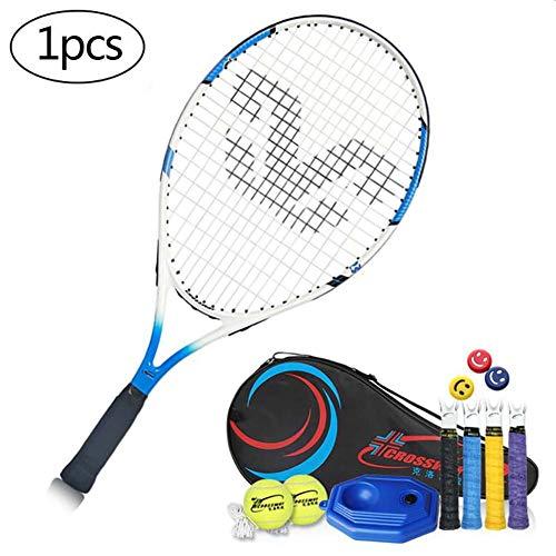 FXQIN Juego de Raquetas de Tenis con 2 Pelota De Tenis Y Bolsa De Cubierta para niños y niñas, 23 Pulgadas Raqueta de Tenis para Entrenamiento