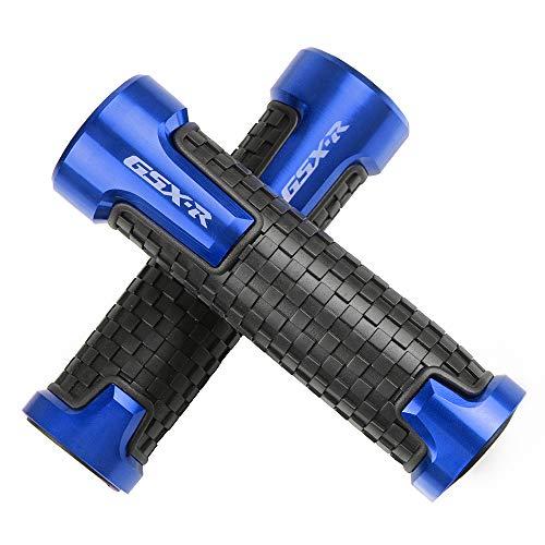 GSXR Puños de Motocicleta Antideslizante Barra de manija de Moto para Suzuki GSXR GSX-R 125 150 600 750 1000-Azul