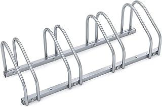 Monzana Aparcamiento para bicicletas soporte y organizador para 4 bicis para interior y exterior para pared y suelo