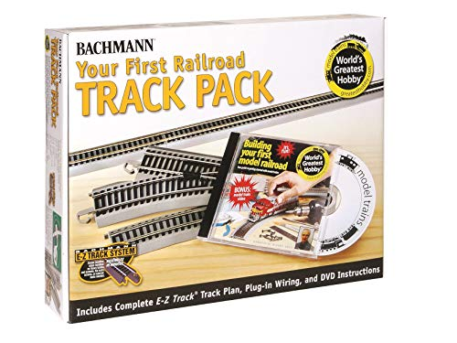 Bachmann Trains Snap-Fit E-Z TRACK WORLD?S GREATEST HOBBY FIRST RAILROAD TRACK PACK - NICKEL SILVER Rail With Grey Roadbed - HO Scale