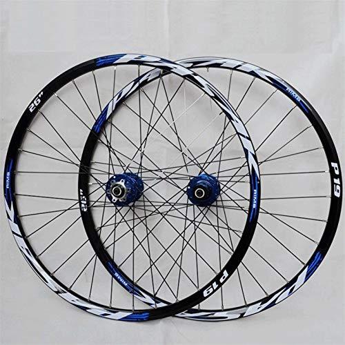 Accesorio de Bicicleta de Ejes de liberación rápid MTB Bicycle Wheelset 26/27.5/29 Pulgadas Llantas de Doble Pared Rims de liberación rápida Bicicleta de Freno de Disco Ruedas de Ciclismo 32 Habla 7