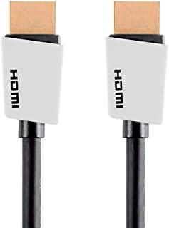 Monoprice High Speed HDMI Cable - 1.5 Feet - White, 4K@60Hz, HDR, 18Gbps, YUV, 4:4:4, 32AWG - Palette Series