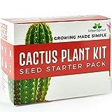 Kit para el Cactus – Fai crescere Le Tue Plantas de Cactus al cerrado – Un regalo para el Jardinería Inusuale – semini, tarros, Terra para el Cactus