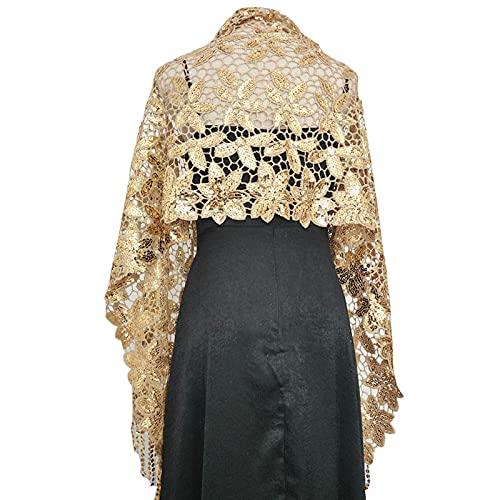 miaoyu Chal de boda elegante con lentejuelas, vestido de noche, chal para mujer, borla de fiesta, chales para novia, dama de honor, boda, chal, chal, capas (color: 7)