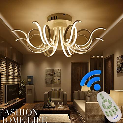 LED Deckenleuchte Dimmbar Wohnzimmerlampe Deckenlampe Fernbedienung 80w Schlafzimmer Kronleuchter, Blume-shape Design Acryl-schirm Aluminium Lampen für Flur Esszimmer Bad Decken Leuchten Ø80*H30cm