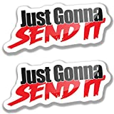 Just Gonna Send It Car Stickers, Funny Car...