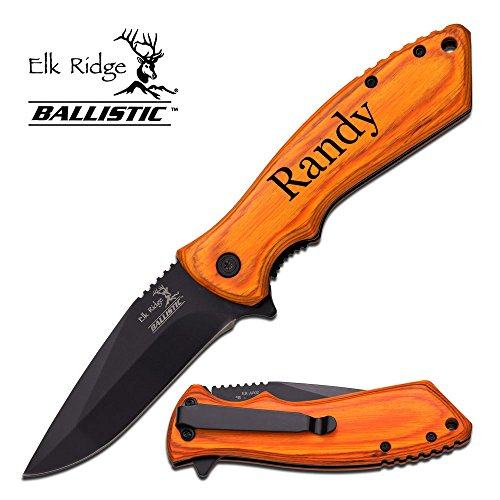 Elk Ridge Personalized Laser Engraved Tactical Pocket Knife