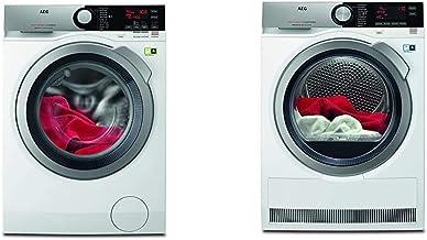AEG L8FE76695 Waschmaschine/ProSteam - Auffrischfunktion/ÖkoMix-Faserschutz / 9 kg & T8DE86685 Wärmepumpentrockner/AbsoluteCare/Wolle-Seide-Outdoor trocknen / 8 kg/Energiesparend
