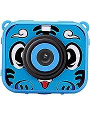 Jorzer Niños Niños cámara Impermeable cámara de vídeo de Alta resolución HD 1080P se Divierte la cámara con el Casco de Montaje para niñas Grabador DVR Boys Blue