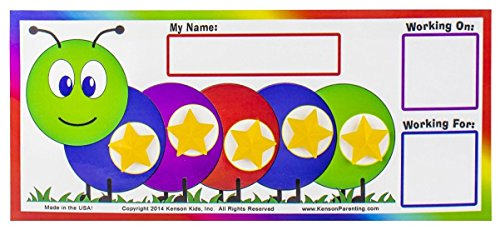 """Kenson Kids """"I Can Do It!"""" Caterpillar Token Board – Perfect for Ages 3-10"""