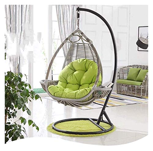 XiYou Garden Furniture Chair Cushions Swing Chair Cushion Pads, Egg Hammock Chair Cushion Egg Shaped Chair for Outdoor/Indoor Garden Patio Furnitureation (Green)