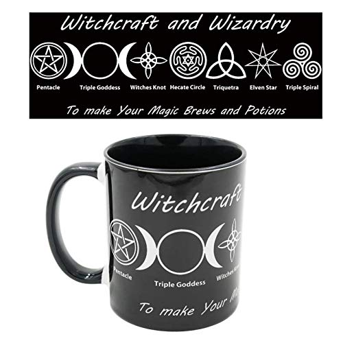 Stunning Witches Brew Symbolic Mug - Black Witchcraft And Wizardry Tea/Coffee Mug - Make Your Special Brews and Potions