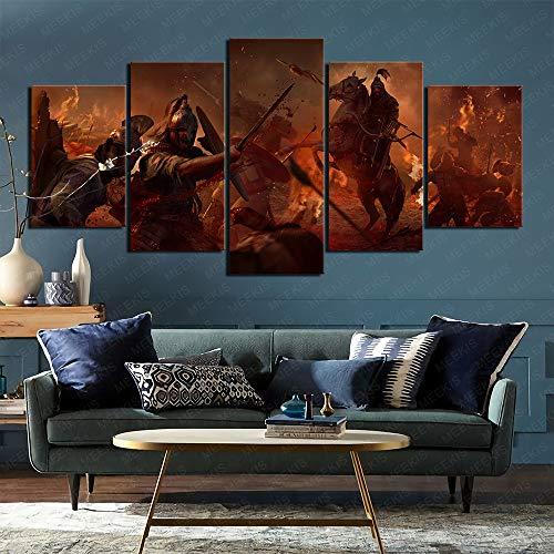 La pared necesita Attila Total War 5 pintura conjunta 3D lienzo de impresión HD 150x80cm sin marco