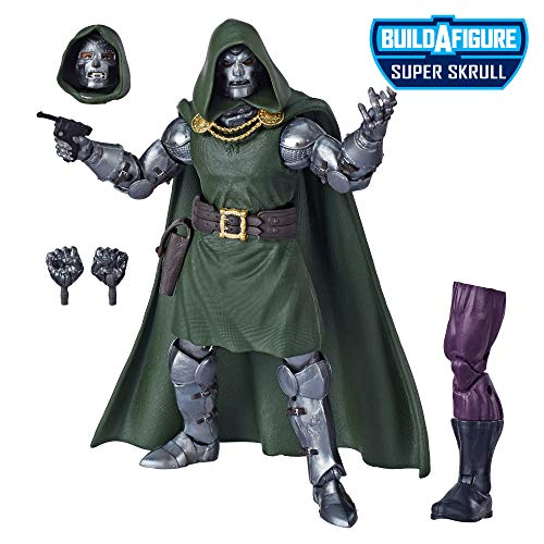 Marvel Legends Series Fantastic Four 15 cm große Doctor Doom Action-Figur, Premium Design, 4 Accessoires, 1 Build-A-Figure Teil
