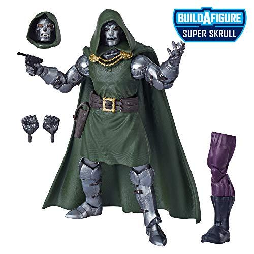 """Marvel Legends Series Fantastic Four 6"""" Collectible Action Figure Doctor Doom Toy, Premium Design, 4 Accessories, 1 Build-A-Figure Part"""