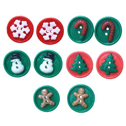 Holibanna 5 Paar Weihnachten Ohrstecker Ohrringe Lustige Knöpfe Form Weihnachtsbaum Gingerman Schneemann Ohrstecker Durchbohrte Ohrringe Schmuck für Weihnachtsfeier Bevorzugt Foto