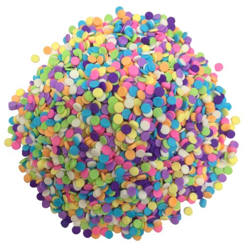OliveNation Pastel Candy Quins, Multicolor Candy Confetti Ice Cream, Dessert Topping, Edible Decoration - 2 pounds