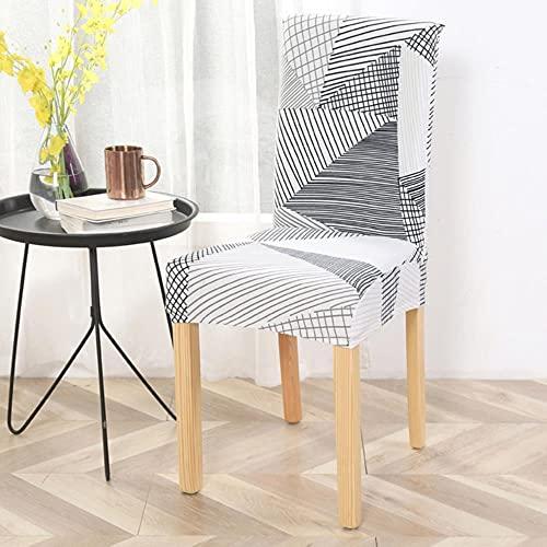 Fodera per sedia elastica6pc Copertura per sedia stretta stampata quadrata per sala da pranzo per sala da pranzo Sedia per ufficio Poltrona per la poltrone elastica-color 29