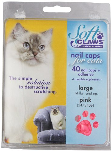 Soft Claws Nail caps - Large- Pink