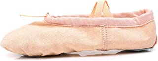 Girls Womans Classic Yoga Leather Ballet Soft-Soled Dancing Shoes