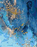 Xpboao Pintar por números - Onda - Pintura de Arte Moderno - Kit de Pintura de Bricolaje Adecuado para Adultos y Principiantes - 40x50cm - Sin Marco