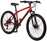 Schwinn High Timber ALX Youth/Adult Mountain Bike, Aluminum Frame and Disc Brakes, 26-Inch Wheels, 21-Speed, Red