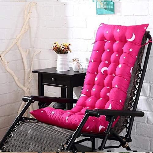 N/V Cojín De La Tumbona, Cojín De Chaise Lounge Engrosado, Cojín De Sofá De Color Liso, Asiento De Silla De Oficina, Cojín De Silla Plegable De Doble Cara 48X160CM Rosa roja