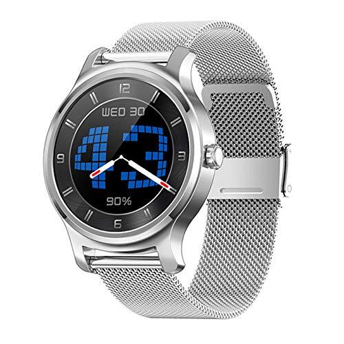 ZGNB Reloj Inteligente a Prueba de Agua R2 IP67 para Hombres y Mujeres, Control táctil de Control de música Bluetooth Monitor de Ritmo cardíaco Reloj Inteligente para Android iOS,F