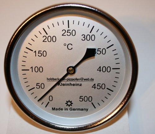 500°C Backofenthermometer Thermometer für Pizzaofen Holzbackofen 100 mm Schaftlänge incl. Führungshülse