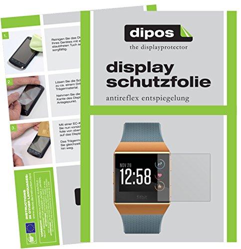dipos I 6X Schutzfolie matt kompatibel mit Fitbit Ionic Folie Bildschirmschutzfolie