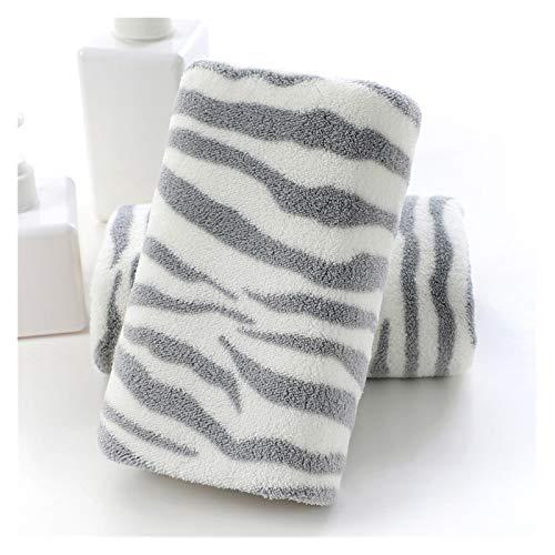 WGDPMGM Toalla 2 Toallas de Estilo Simple, Toallas de baño Adultas Suaves, Toallas absorbentes, Toallas de Lavado de baño para el hogar (Color : Gray, Size : 70x140cm)