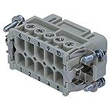 Harting 09200102812Han inserto a connettori femmina, dritto, 10contatti 2file, montaggio da tavola, 600V/16A