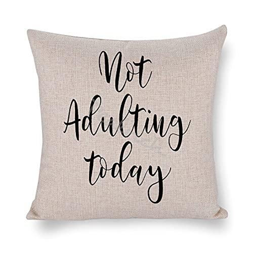 Fundas de almohada decorativas para sofá, algodón, lino, 45 x 45 cm