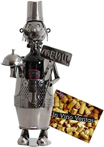 BRUBAKER Portabottiglie da vino regalo - capo cameriere