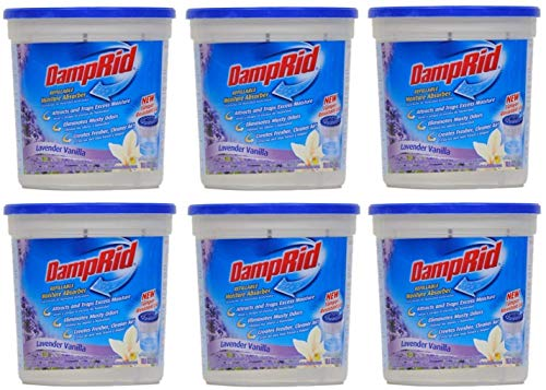DampRid Moisture Absorber Lavender Vanilla, 10.5oz (Pack of 6), White