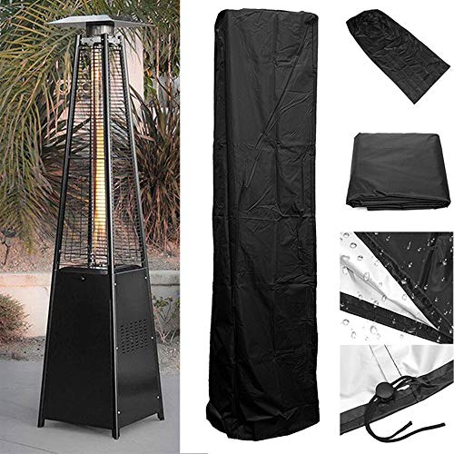 ZXCVB Patio Heater Cover,Waterproof Heavy Duty Outdoor Garden Patio Black Round Furniture Protector Cover With Storage Bag,Effectively Avoid Damage Caused By Weather