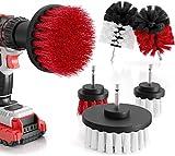 M&A QUALITY® - Bürstenaufsatz Bohrmaschine 6er Set - weiche & harte Reinigungsbürsten für fast alle Oberflächen – extra leichte Reinigung - Drill Brush - Bürstenaufsatz Akkuschrauber