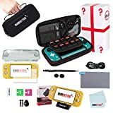 Protective Starter Kit for Nintendo Switch Lite with Complete Bundle Accessories (Black)