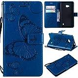 Ycloud PU Cuir Coque pour Nokia Lumia 640 Papillon Motif Flip Couverture Portefeuille avec Carte...