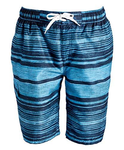 Kanu Surf Men's Legacy Swim Trunks (Regular & Extended Sizes), Jetstream Aqua, X-Large