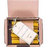 LAMARE Vela de Miel Natural 100 % pura de Abeja (Pack de 24, 10 cm...