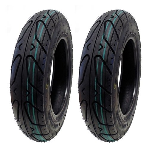 MMG Set of 2 Scooter Tubeless Tires 3.50-10 Front or Rear, Fits on 10 Inch Rim