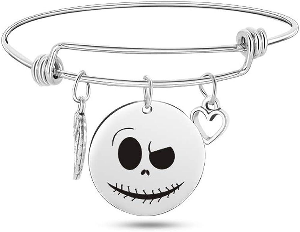Jack Skellington Bangle Bracelet Gift and Nightmare Sally Tampa shipfree Mall